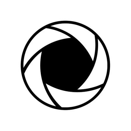 Photo shot icon. Vector illustration on withe background. Isolated.