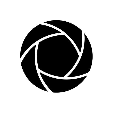 Photo shot icon. Flat design. Vector illustration. Isolated.  イラスト・ベクター素材