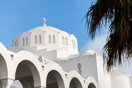 White Church on the romantic Greek island of Santorini.