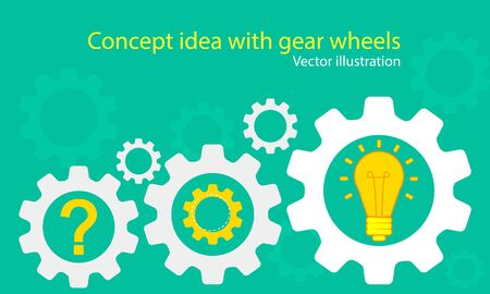 input output: Concept idea with gear wheels. Illustration