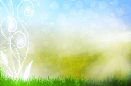 welfare: beautiful summer fantasy, background bokeh
