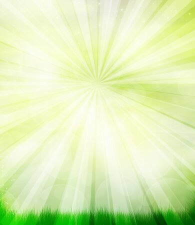 beautiful natural summer background with a rays Stock Photo - 16294429