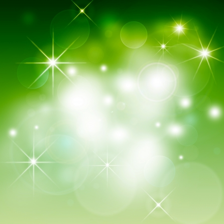 green Abstract illustration, Christmas background bokeh