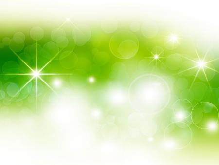 별 녹색 축제 나뭇잎 배경