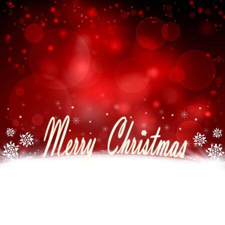 beautiful red Christmas background Stock Photo