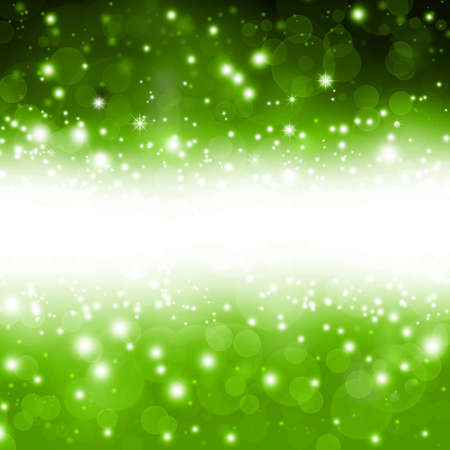 spotted ray: beautiful green Christmas background with stars