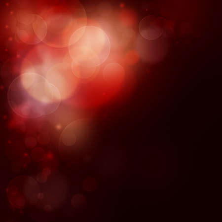 beautiful background with Red bokeh lights