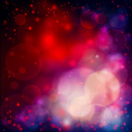 Colorful background with Red bokeh lights photo