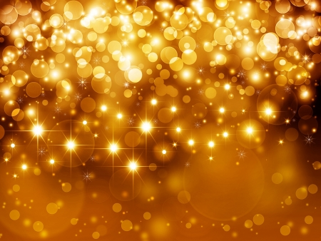 Gold festive fantasy, bokeh background
