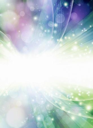 별과 광선에서 Colorfull 추상 밝은 배경