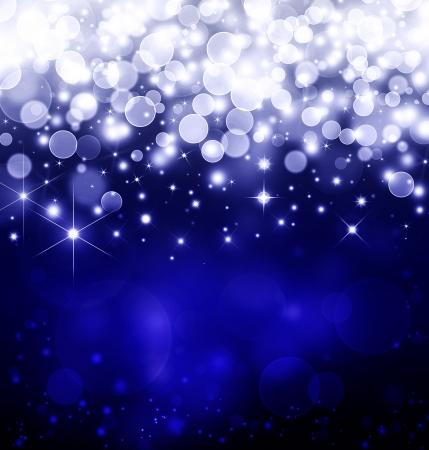 blue  fantasy,  stars  background Stock Photo