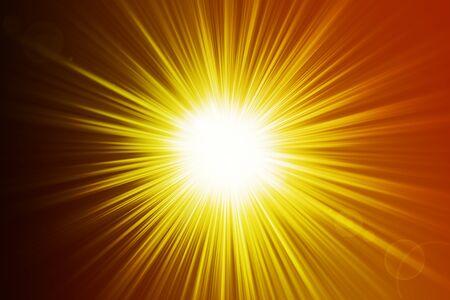 hot sunrays background