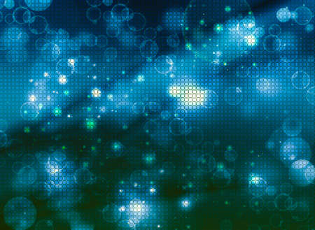 abstract blue mosaic,  background bokeh photo