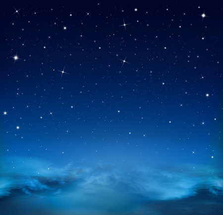 abstract blue background starry sky photo