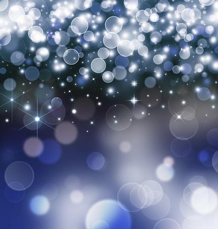 festive blue light background