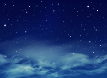 carelessness: abstract blue background, Nightly sky