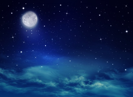 moonlit: Nightly sky with stars and moon