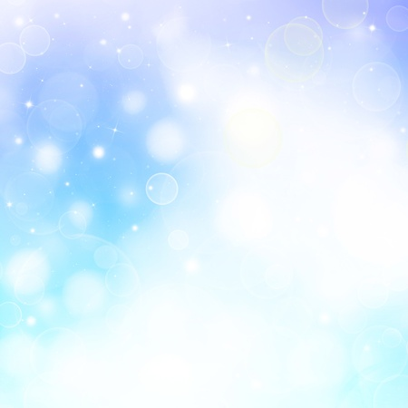 blue abstract background  with defocused lights