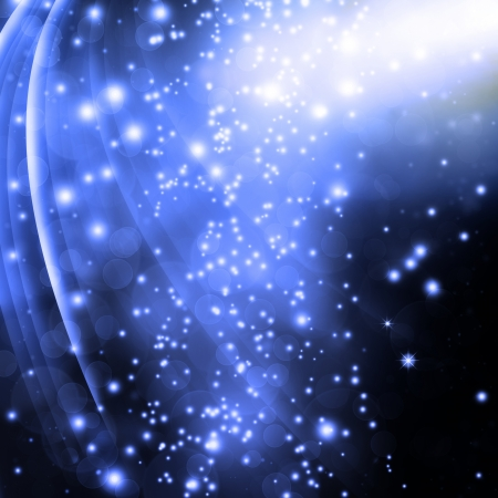 blue festive fantasy, background with stars