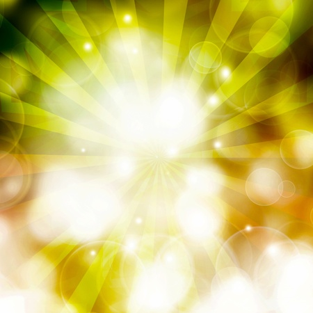 green Abstract illustration, background bokeh