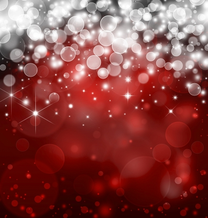 red bokeh  bright background with stars photo