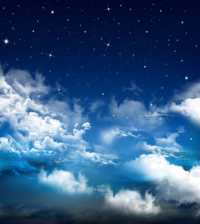 abstract blue background, Nightly sky Imagens - 20407875