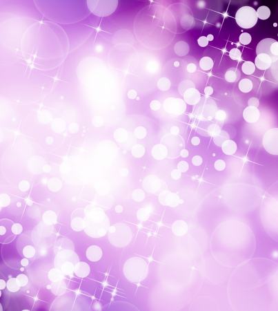 purple pattern: beautiful festive fantasy, bokeh background with stars Stock Photo