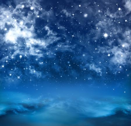 추상적 인 배경 별이 빛나는 하늘