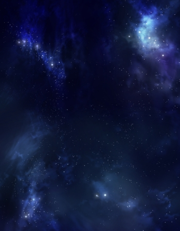 awe: beautiful starry sky deep outer space  Stock Photo