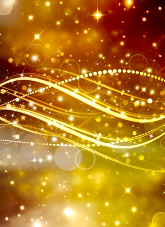 abstract golden bokeh background with cross lines and stars  photo