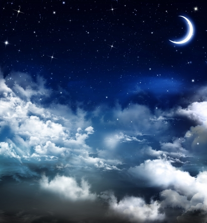 beautiful background, nightly sky  Standard-Bild