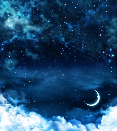 Bellissimo sfondo, cielo notturno Archivio Fotografico - 24182354