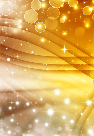 abstract golden bokeh background with cross lines and stars