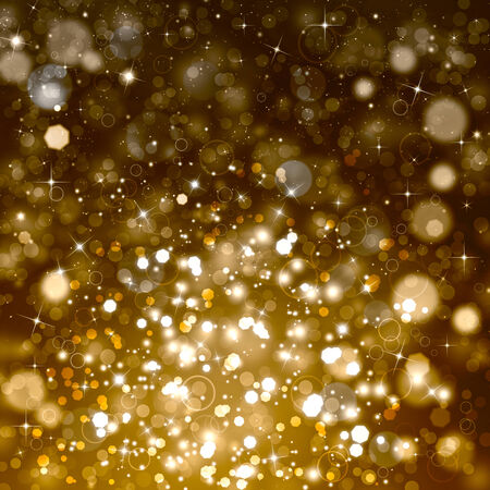 Glittery beautiful bokeh with stars photo