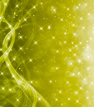 excitement: beautiful green festive background with stars Stock Photo