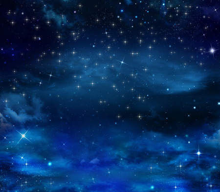 starlit: beautiful background of the night sky Stock Photo