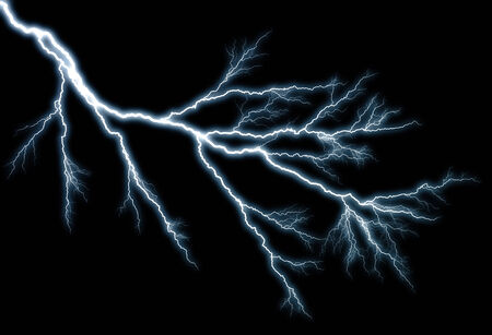 zapping: lightning effect, background Stock Photo