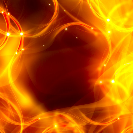 elegant abstract background of chaotic fire lines photo
