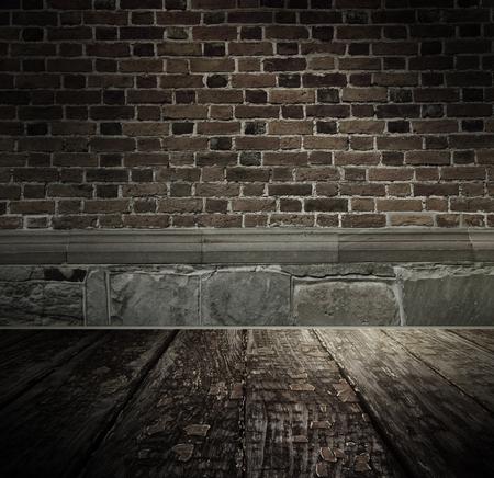 Vintage brickwall, textured background photo