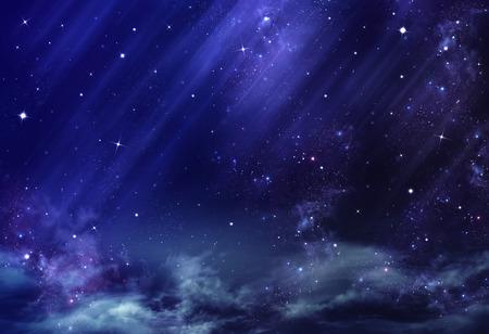 blue sky: night sky, background