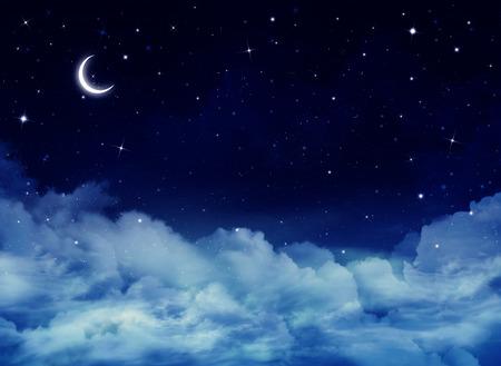 ciel avec nuages: ciel de la nuit, fond