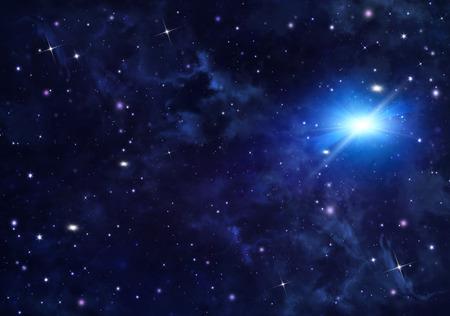 noche estrellada: estrellada del cielo nocturno Foto de archivo
