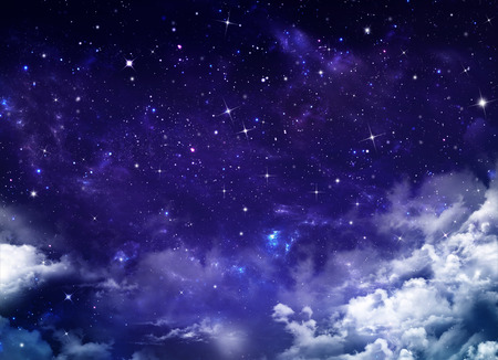 mooie achtergrond, nachtelijke hemel