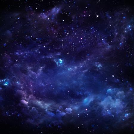 noche: hermoso cielo estrellado Foto de archivo