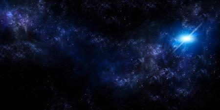 열린 공간에서 별이 빛나는 하늘, 파노라마 배경