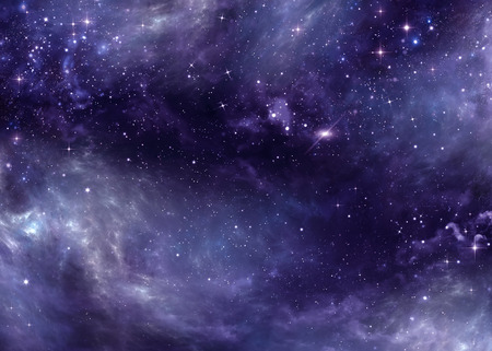 open space: starry sky in the open space