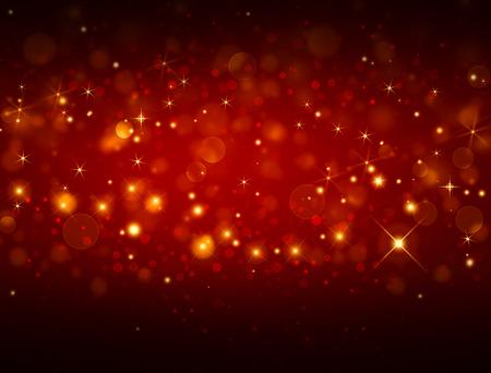 별과 우아한 빨간색 축제 배경
