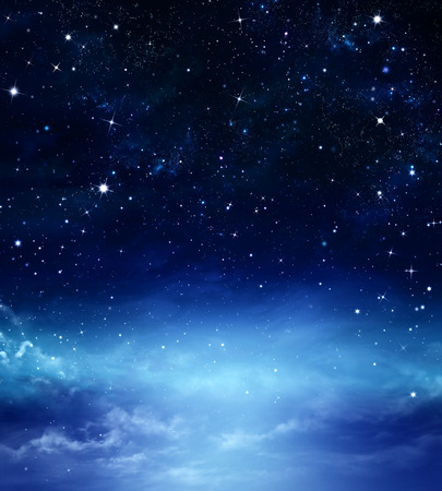 entertainment background: deep space abstract blue background Stock Photo