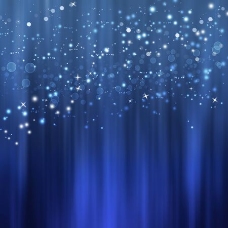 blue christmas background: beautiful blue illustration Christmas background Stock Photo