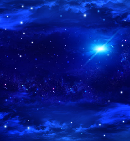 night light: Night sky with stars